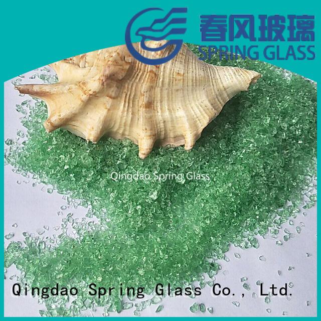Light green crushed glass