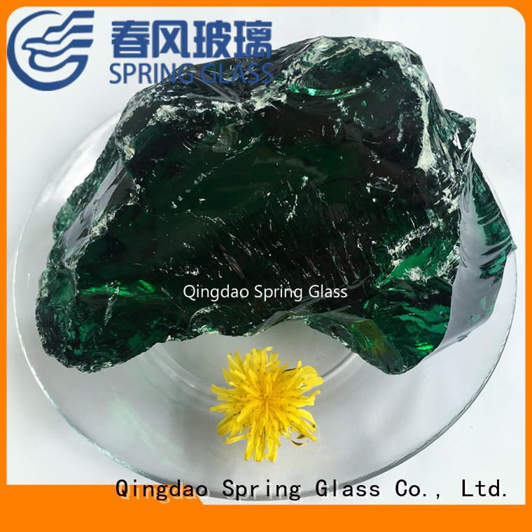 Spring Glass fire glass rocks manufacturer for home