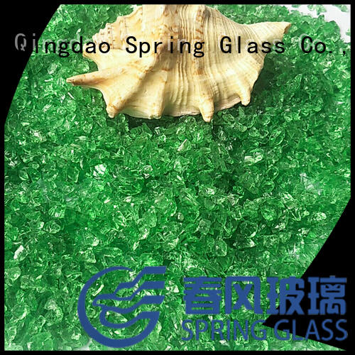 Spring Glass porcelain recycled crushed glass factory for decoration
