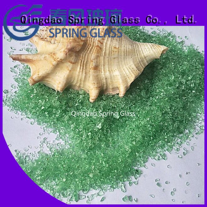 Spring Glass decorative crushed glass factory for decoration