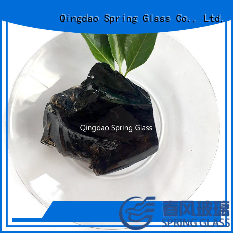 Spring Glass high quality glass rocks factory for garden