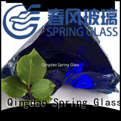 grey landscaping glass rocks supplier for square