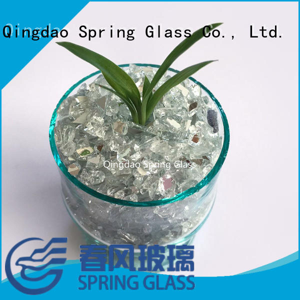 Spring Glass mirror chips supplier for decoration