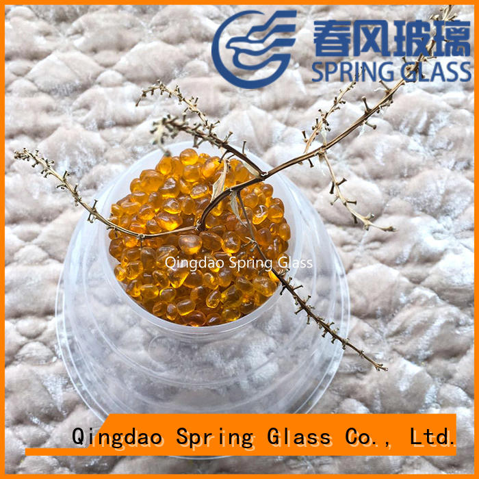 Spring Glass yellow glass gravel company for garden