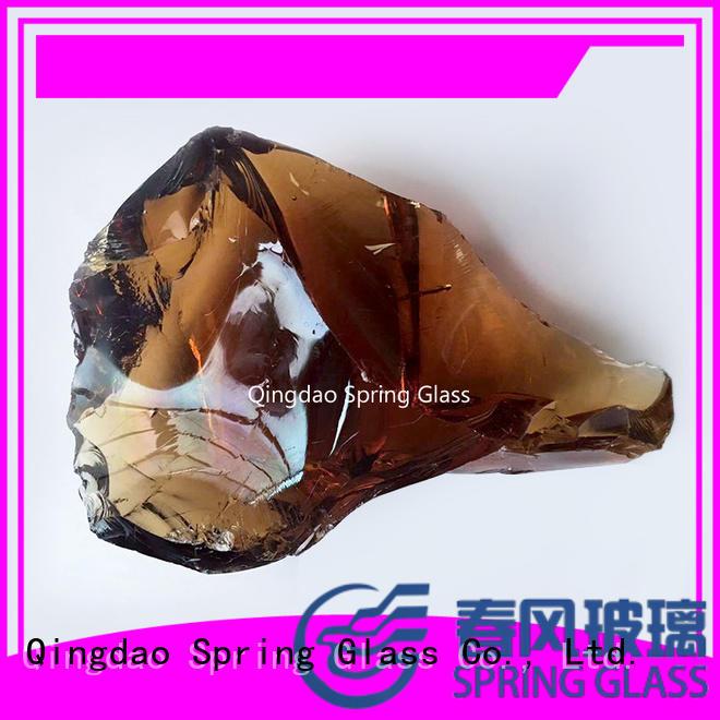 Colorful glass rocks