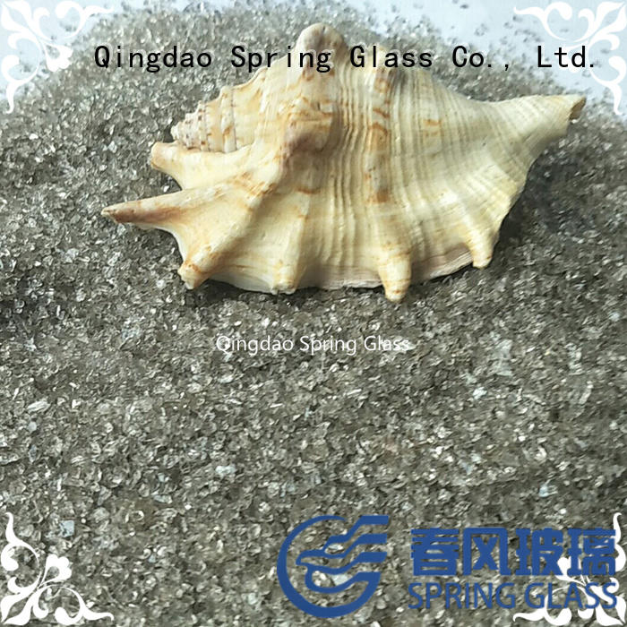 european decorative crushed glass supplier for floor