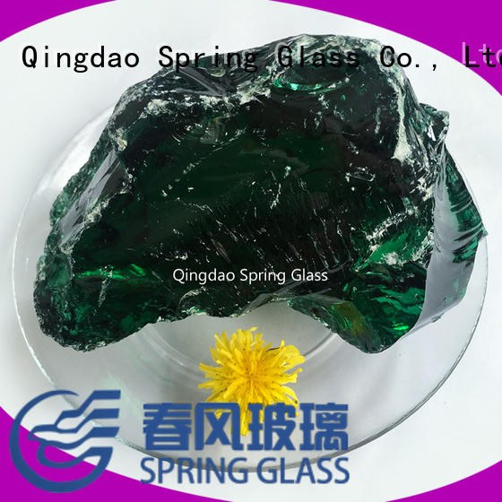 Spring Glass dark fire glass rocks manufacturer for square