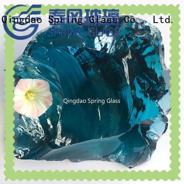 Sky blue glass rocks