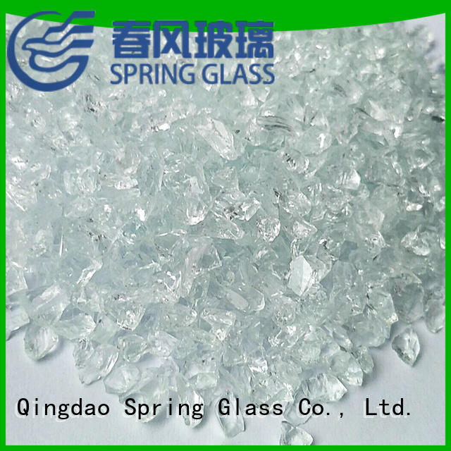 Spring Glass normal crushed red glass wholesale for sale