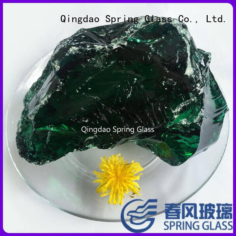 Spring Glass landscaping coloured glass rocks supplier for decoration