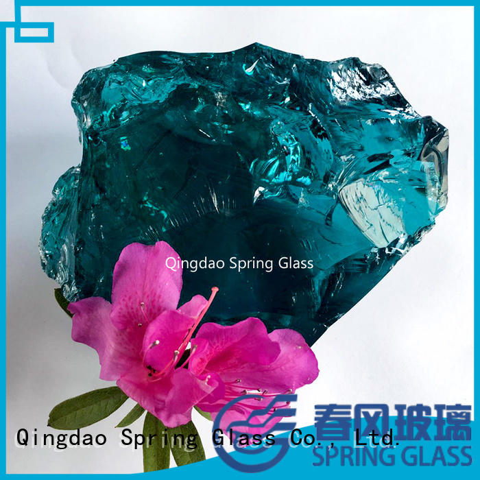 recycled glass landscape rocks beautiful for decoration Spring Glass