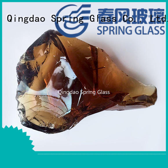 Spring Glass natural large glass rocks for gardens hot sale for garden