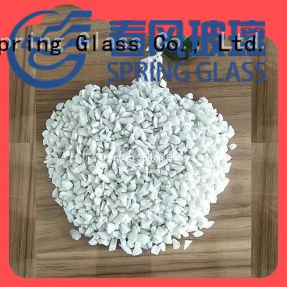 Spring Glass superior quality decorative crushed glass supplier for floor