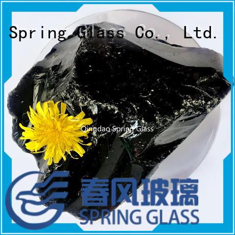 super white natural glass rocks manufacturer for garden