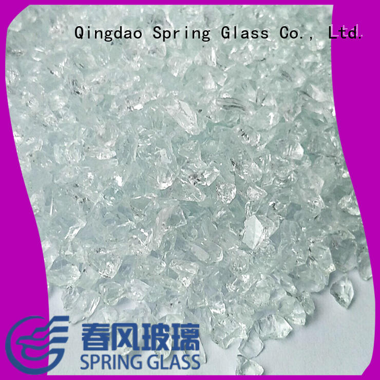 super white crushed glass for busniess for decoration