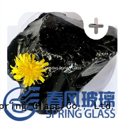 Spring Glass green landscaping glass rocks wholesale for decoration