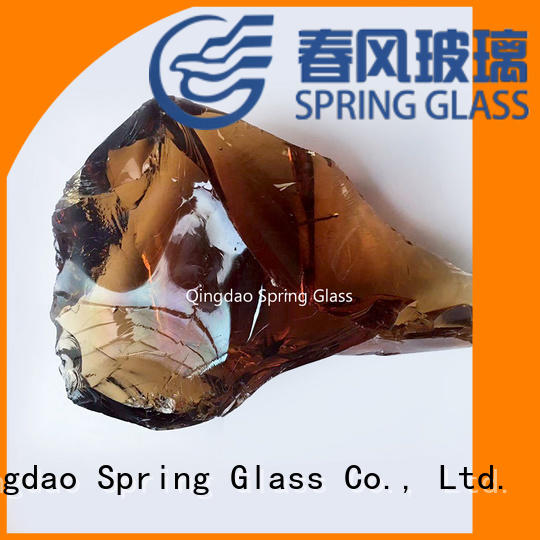 Spring Glass landscaping glass rocks supplier for home