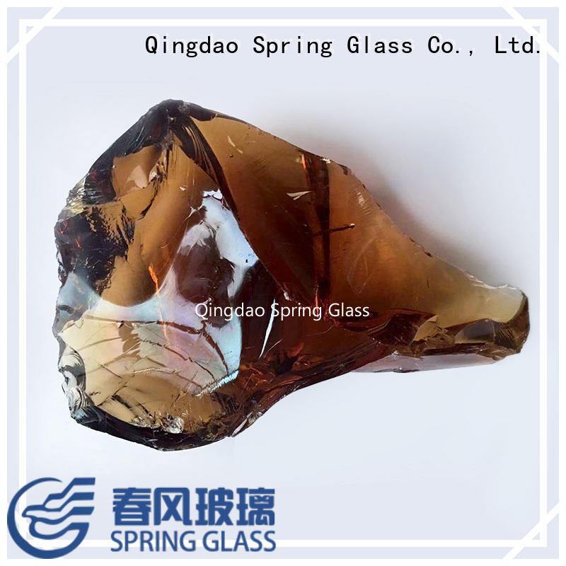 Spring Glass landscaping glass rocks manufacturer for garden