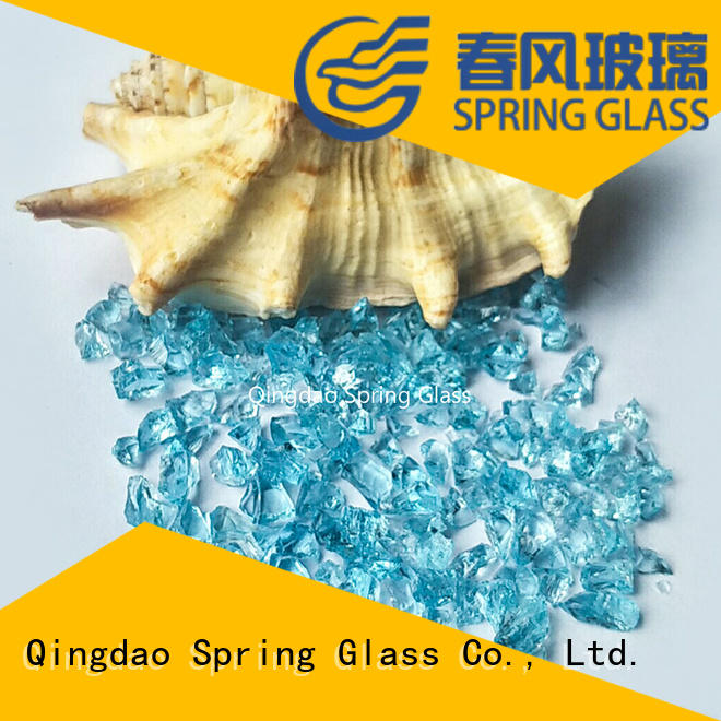 Spring Glass recycled crushed glass wholesale for sale