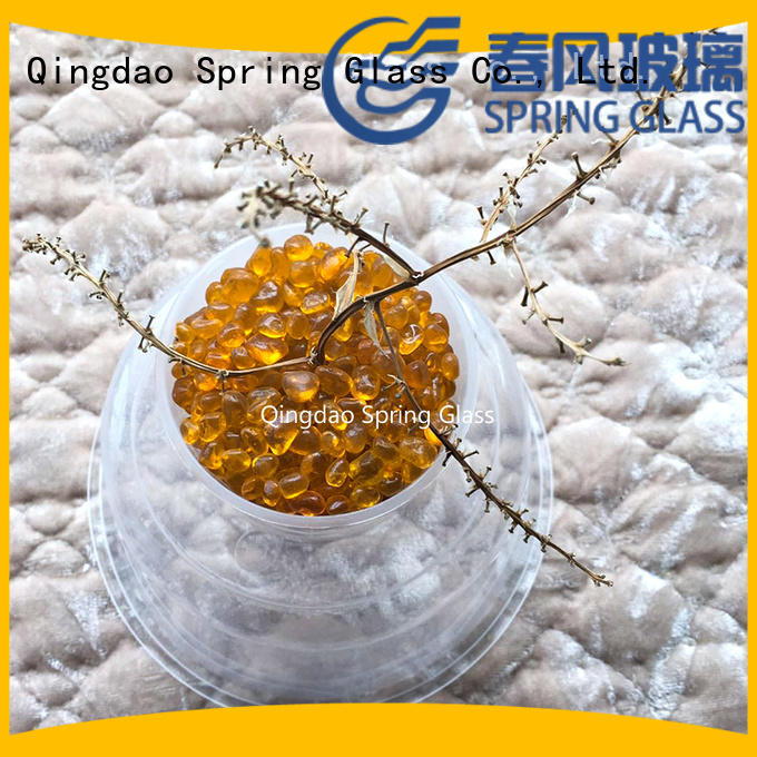 Spring Glass glass pebble gravel for swimming pool