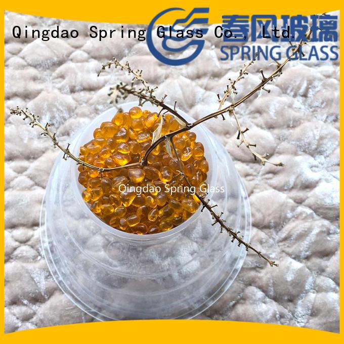 Spring Glass glass pebble gravel for swimming pool