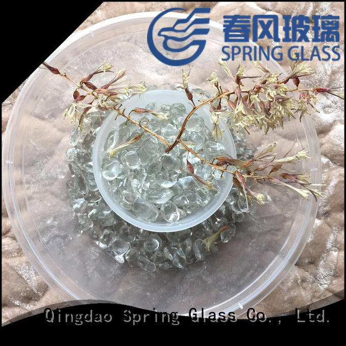 Spring Glass decorative glass gravel wholesale for swimming pool