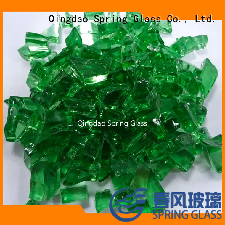 Spring Glass sheet glass cullet manufacturer for fire place