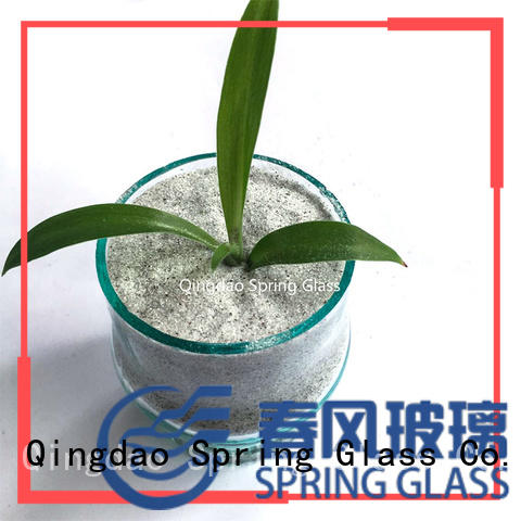 Spring Glass silver tumbled glass chips manufacturer