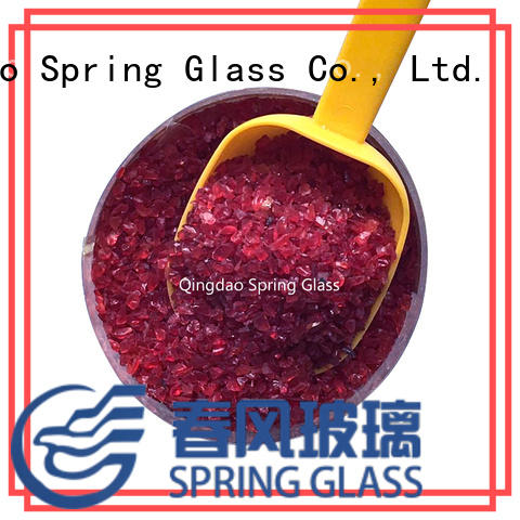 Spring Glass sky blue crushed glass manufacturer for decoration