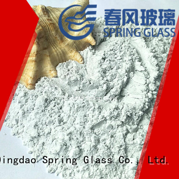 Spring Glass crushed glass powder factory for paving