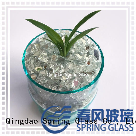 Spring Glass silver mirror chips supplier for decoration