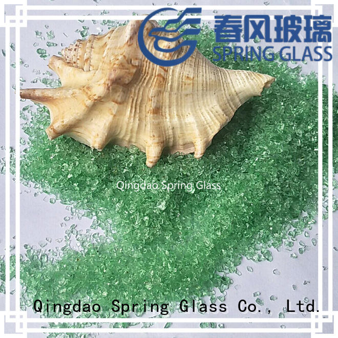Spring Glass crushed glass manufacturer for sale