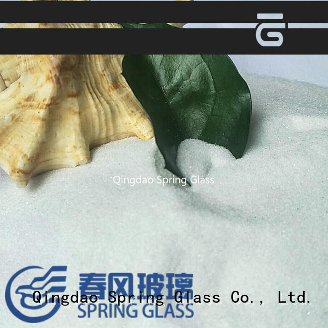 Spring Glass latest recycled crushed glass manufacturer for decoration