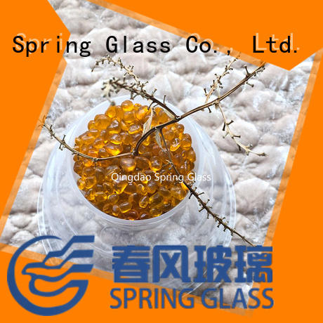Spring Glass crystal glass pebble wholesale for home
