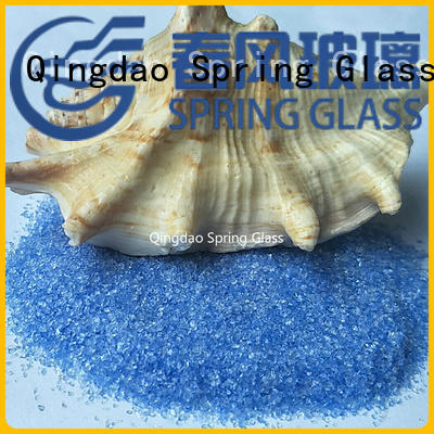 Spring Glass recycled crushed glass factory for sale