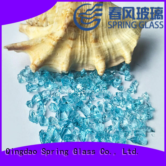 Spring Glass recycled crushed glass for busniess for sale