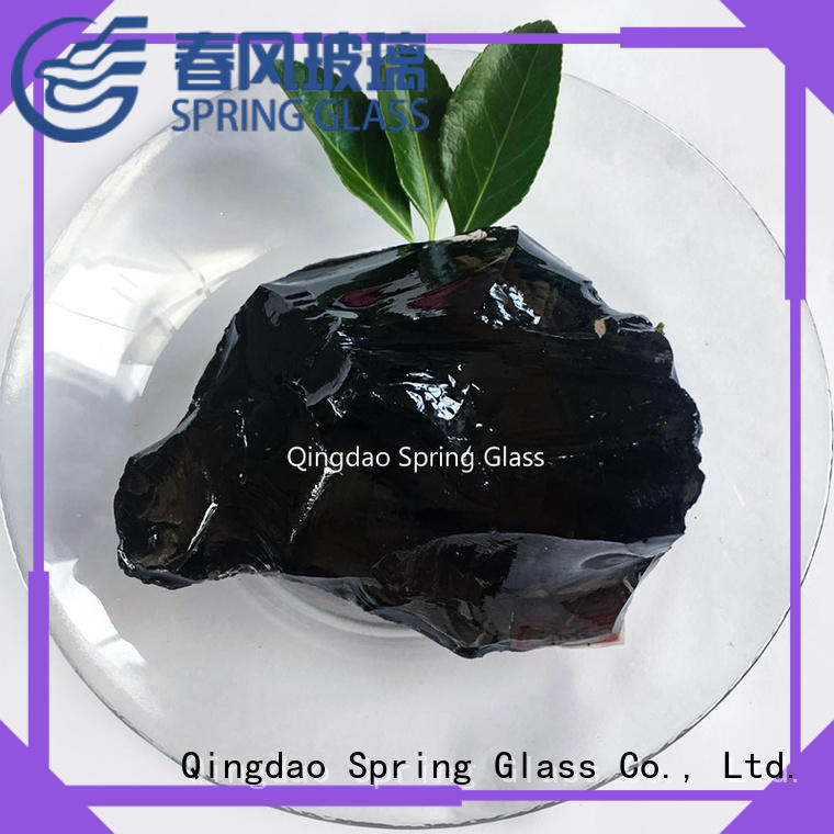 Spring Glass natural recycled glass landscape rocks for decoration