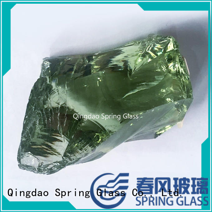 Spring Glass dark landscaping glass rocks supplier for square