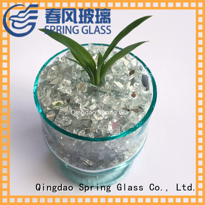 Spring Glass new crushed mirror chips supplier for engineered stone