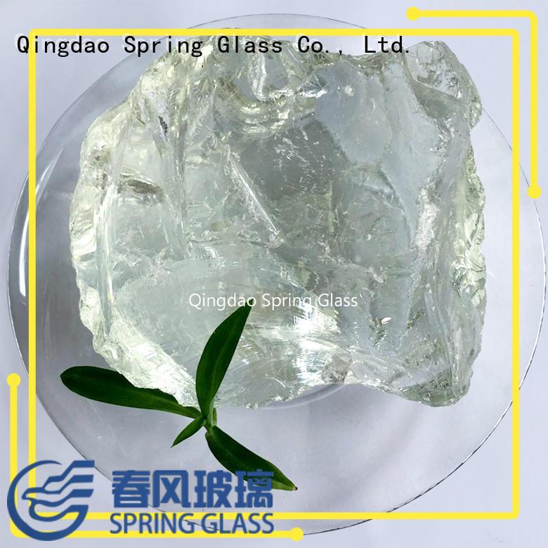 green fire glass rocks supplier for garden