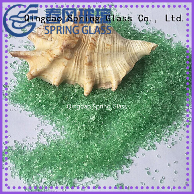 Spring Glass good selling recycled crushed glass wholesale for decoration