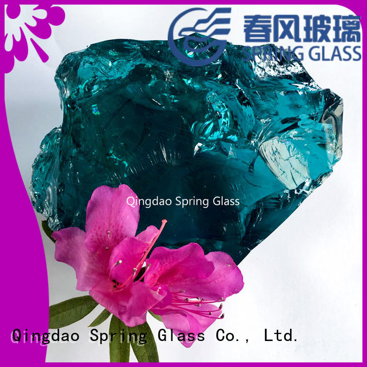 normal landscaping glass rocks supplier for decoration