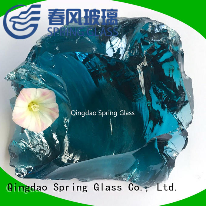super white glass rocks supplier for garden
