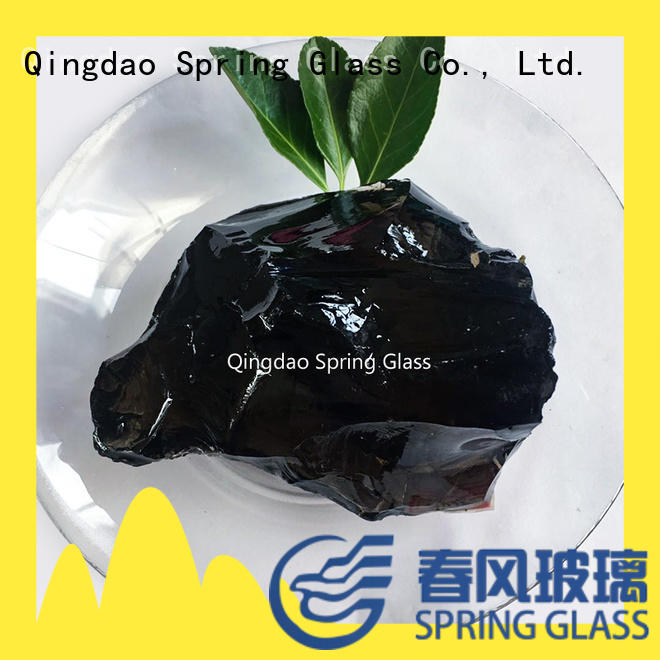 hot sale blue fire pit rocks professional for garden Spring Glass