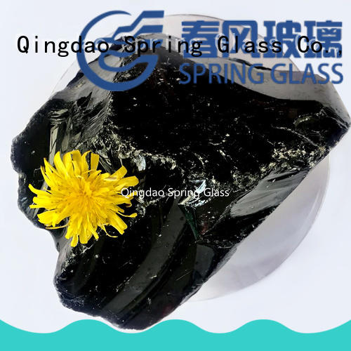 beautiful clear decorative rocks professional for garden Spring Glass