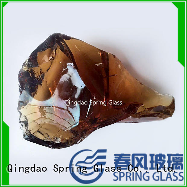 Spring Glass european fire glass rocks factory for decoration