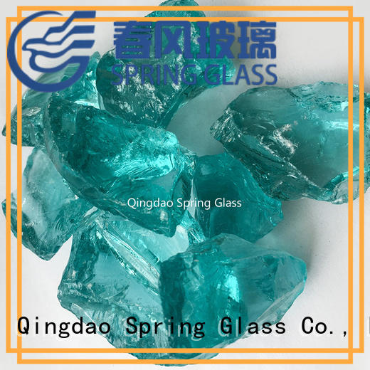 Spring Glass top recycled crushed glass for busniess for decoration