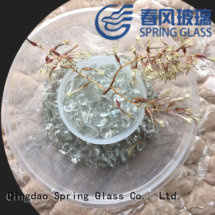 Spring Glass colored glass bead gravel for home