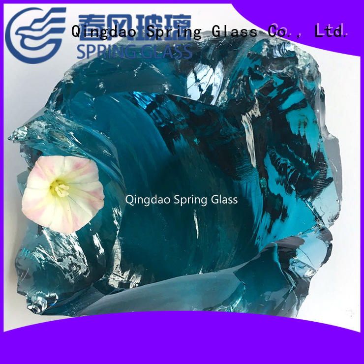 grey landscaping glass rocks supplier for home