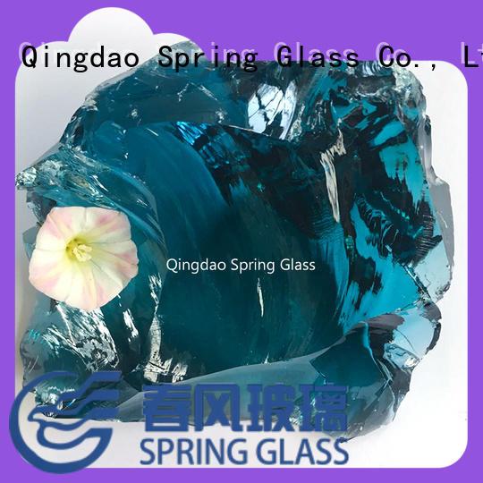 Spring Glass super white glass rocks factory for home